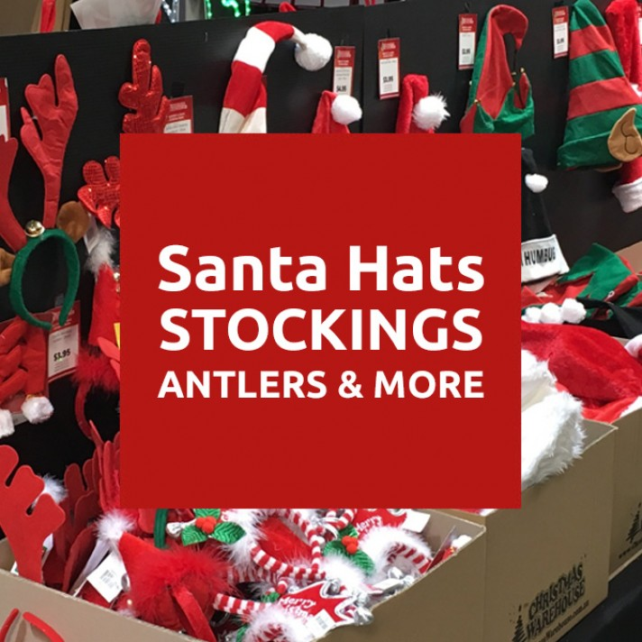 Santa Hats, Christmas Elf Hats, Antlers, Stockings & more