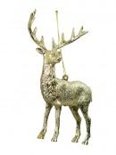 Champagne Deer Hanging Ornament - 14cm