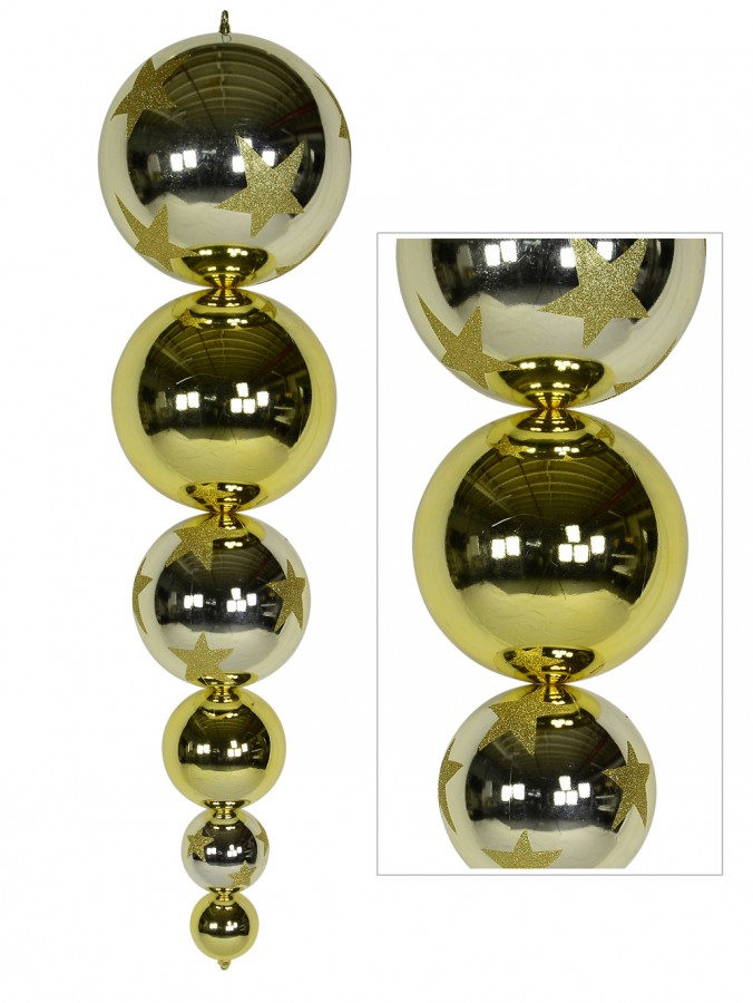Gold & Champagne Large Finial Display Decoration - 1m