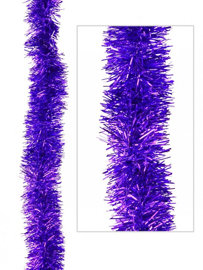 Purple Metallic 6ply Tinsel Garland - 50mm x 5m