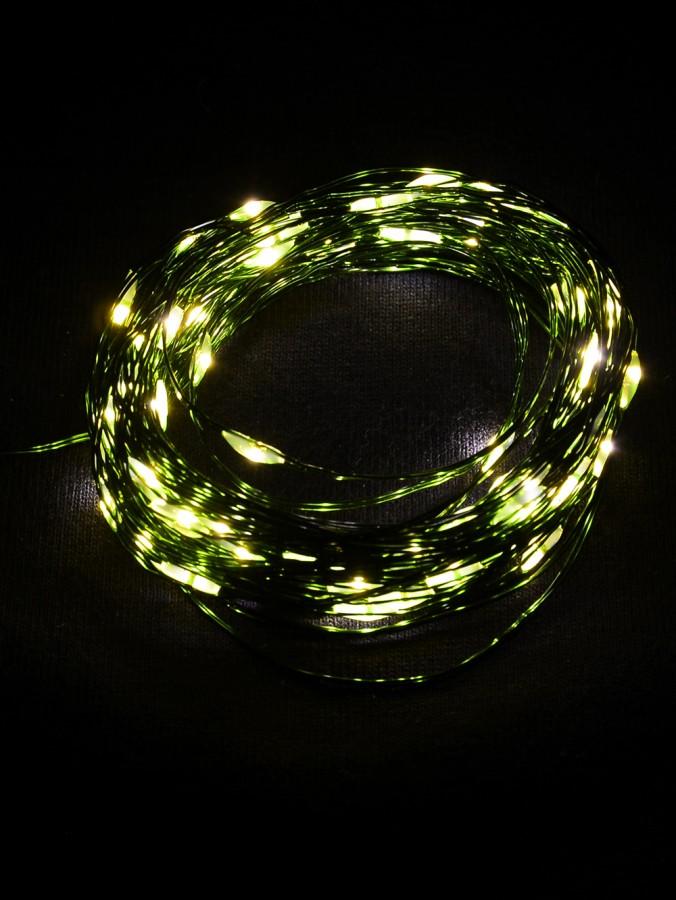 100 Warm White LED Micro Bulb Battery String Lights - 8m