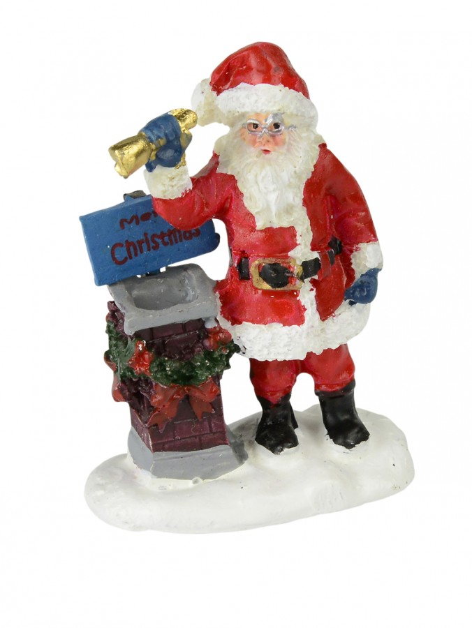 Santa with chimney resin figurine mm ornaments the