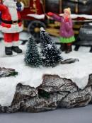 Santa Express Delivery Locomotive Train Christmas Village Scene - 28cm