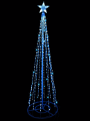 Blue & Cool White 3D Christmas Tree - 2m