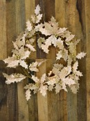 Two Leaf Style Pink Holly With Gold Berries Wreath - 60cm