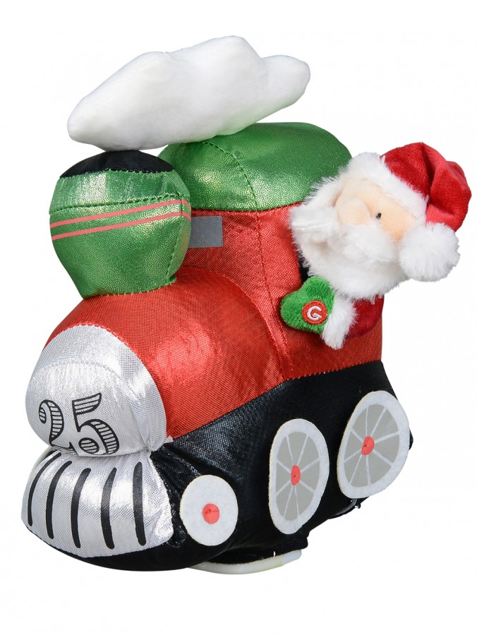 Wobbling Christmas Train Locomotive Christmas Animation With Santa - 28cm