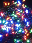 1000 Multi Colour LED Concave Bulb Christmas Fairy String Lights - 50m