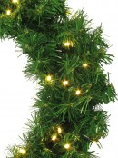 60 Warm White Lighting Connect LED Pine Wreath - 50cm