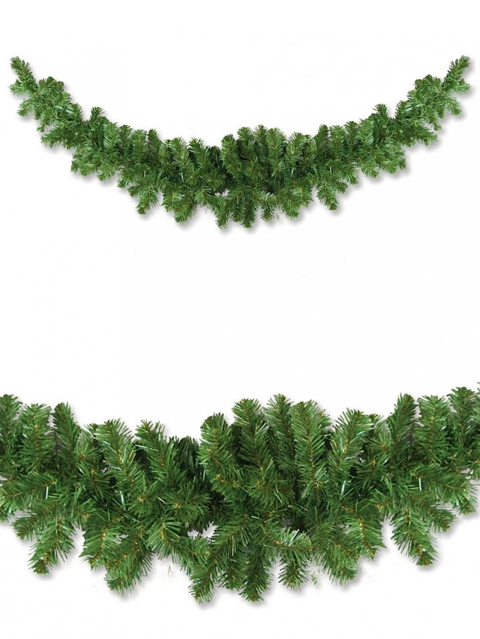 Thin Balsam Pine Swag Garland With 150 Tips - 2.1m