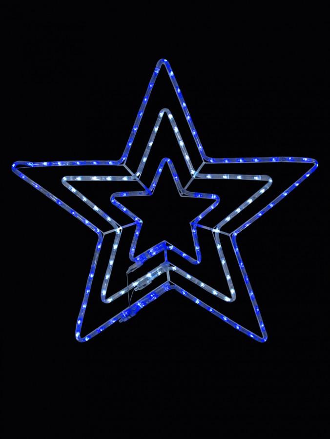 Blue cool white led triple star rope light silhouette 80cm blue cool white led triple star rope light silhouette 80cm aloadofball Gallery