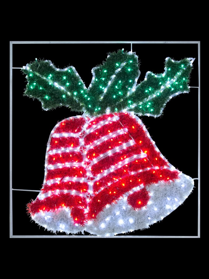 Double Tinsel Bell Led Rope Light Motif 1 1m Christmas