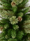 Dawn Dew Light Traditional Christmas Tree with Pine Cones & 1164 Tips - 2.3m