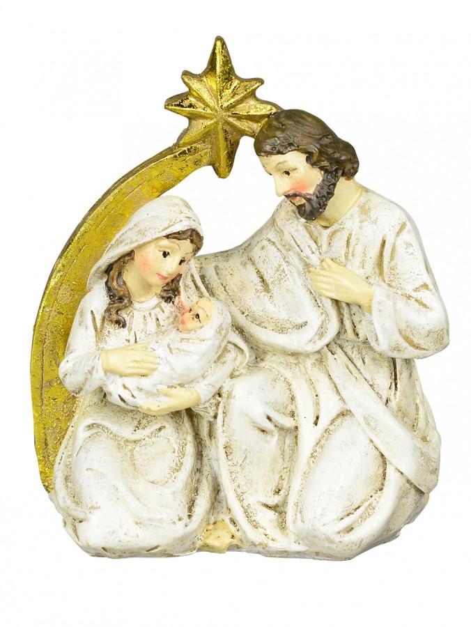Small Nativity Scene With Mary, Joseph, Baby Jesus & Star - 11cm