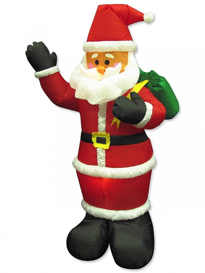 Large Santa Holding Sack Illuminated Inflatable - 1.9m