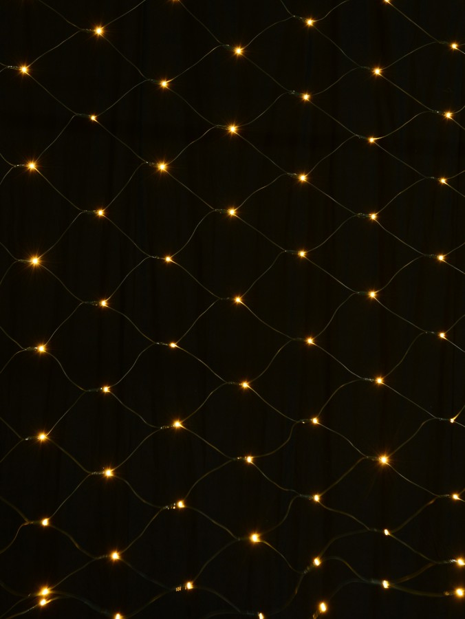 180 Warm White LED Concave Bulb Christmas Net Light - 1.8m