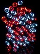 80 Red & Cool White LED String Light - 8m