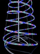 Multi Colour LED Rope Light 3D Spiral Christmas Tree With Star - 1.8m