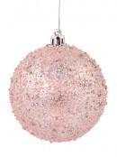 Pink & Mint Green Textured Baubles - 4 x 80mm