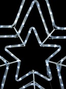 Cool White Triple Star LED Rope Light Silhouette - 80cm