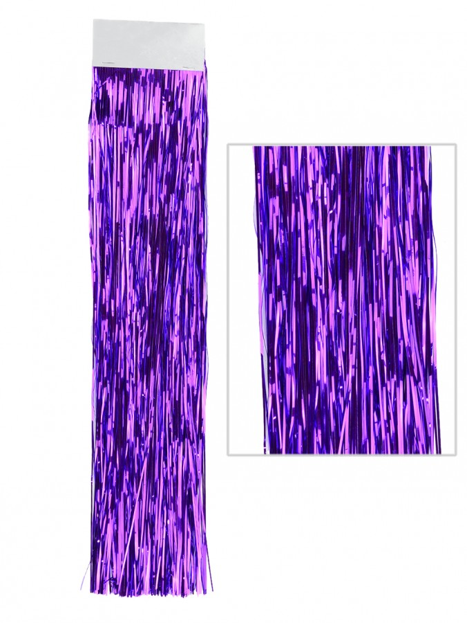 Purple Lametta Tinsel icicles - 300 strands