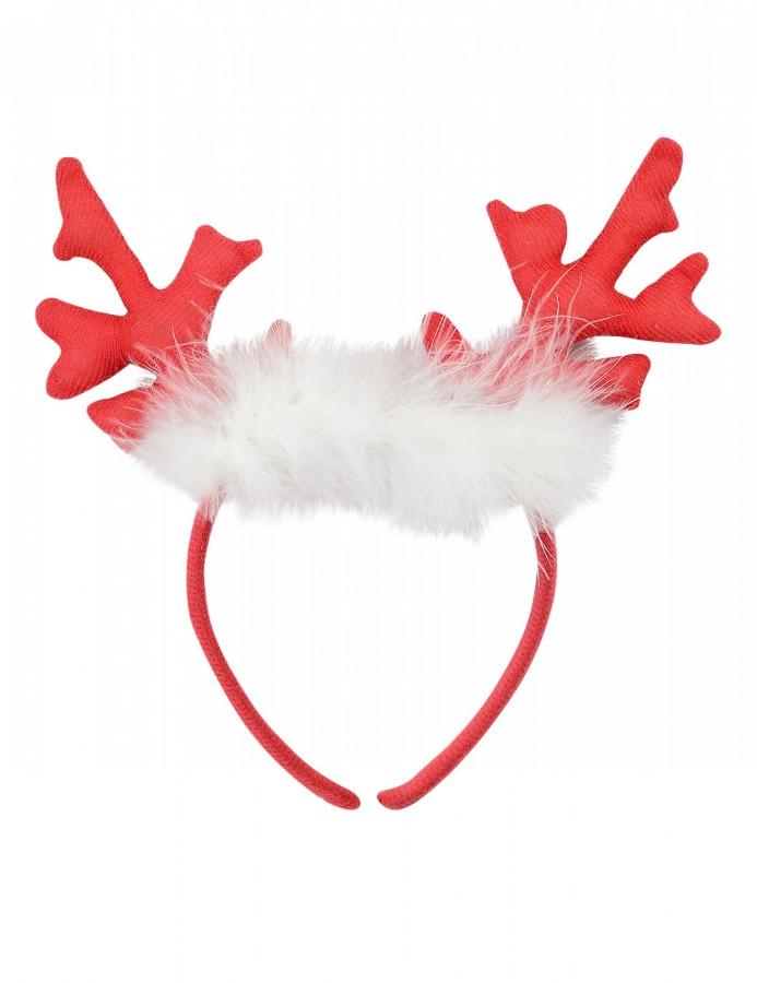 Fluffy Antlers Headband - 26cm