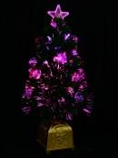 Multi Colour With Bauble Decorations Fibre Optic Tree - 61cm