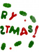 Merry Christmas & Holly Gel Window Cling Christmas Decoration - 45cm