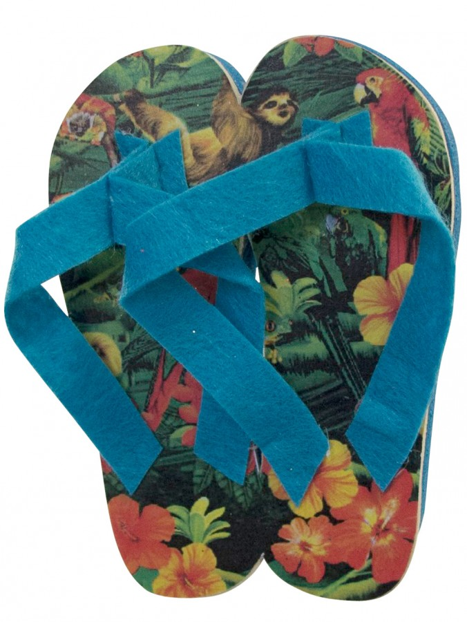 Blue Tropical Thongs Hanging Decoration - 10cm