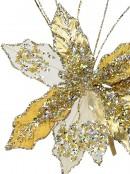 Gold & Platinum Decorative Christmas Cactus Floral Pick - 25cm