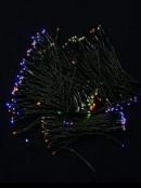 200 Multi Colour Concave LED Bulb Solar Powered String Fairy Lights - 20m