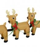 Santa & Reindeer Sleigh Illuminated Christmas Inflatable Display - 3.4m