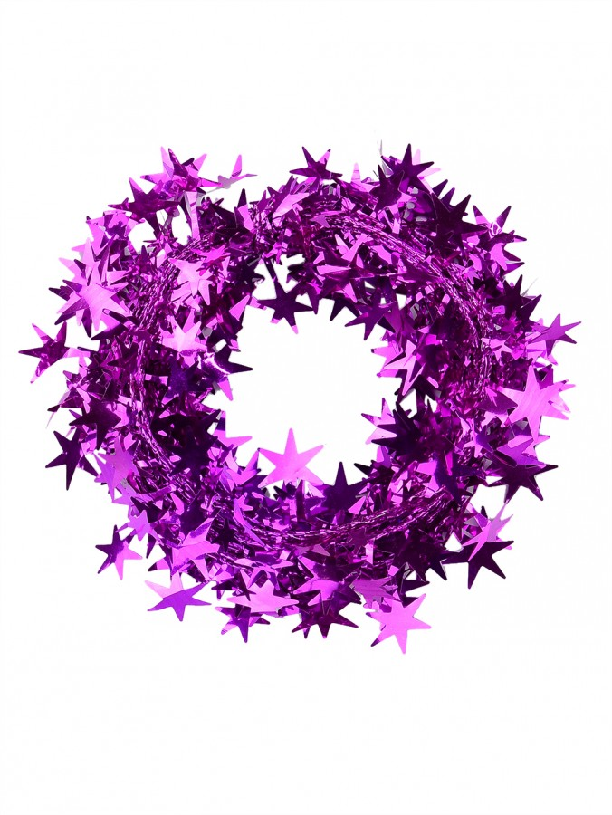 Fuchsia Star Wired Garland - 7.6m