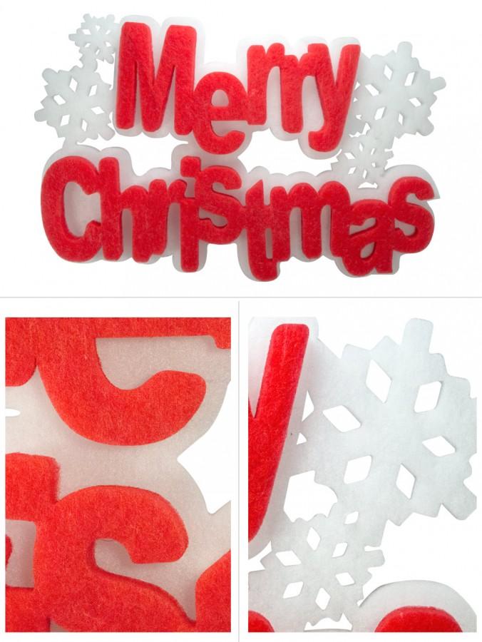 Dacron Merry Christmas Hanging Decoration - 56cm