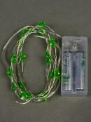 20 Warm White LED Green Christmas Tree Battery String Lights - 1.9m