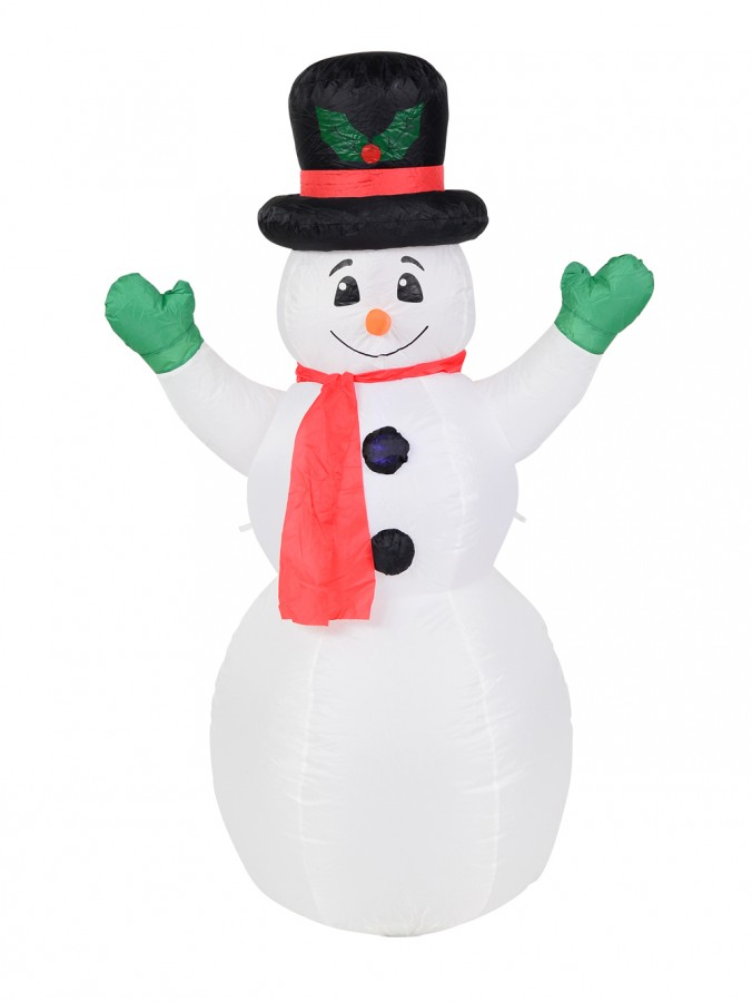 Snowman with Top Hat Inflatable - 1.4m