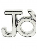 Ceramic White & Silver ' JOY ' Freestanding Ornament - 22cm