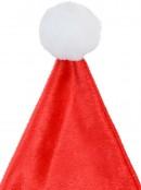 Embroidered String Lights Soft Plush Traditional Christmas Santa Hat - 38cm