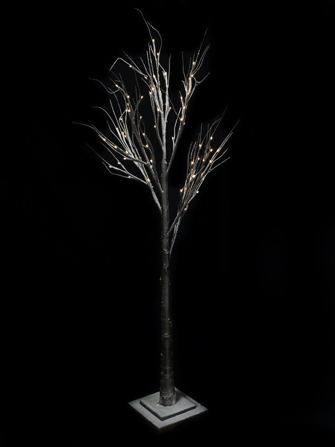 Snow Accented Winter Forest Neutral White LED 3D Tree - 1.5m