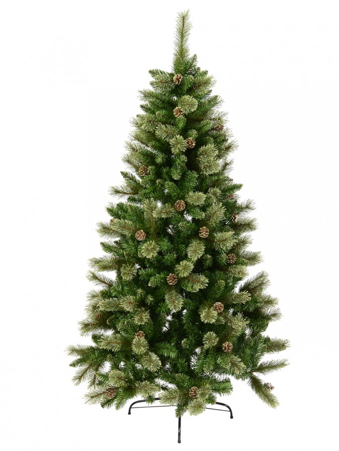 Dawn Light Dew Christmas Tree with Pine Cones & 616 Tips - 1.8m