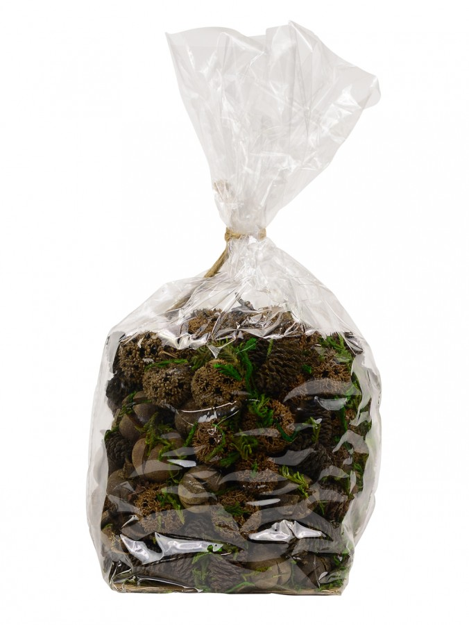 Bag Of Assorted Natural Pine Cones, Seeds, Cross Fruit & Greenery - 400g