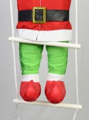 Padded Christmas Elf Climbing Ladder Outdoor Hanging Decoration - 87cm