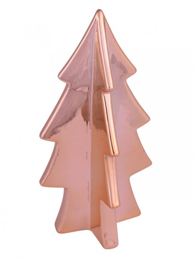 Copper Finish Ceramic Large Tree Ornament - 20cm