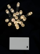 20 Warm White LED Concave Bulb Battery String Lights - 2.4m