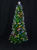 Fibre Optic Christmas Tree with Colour Changing LED Star - 1.8m