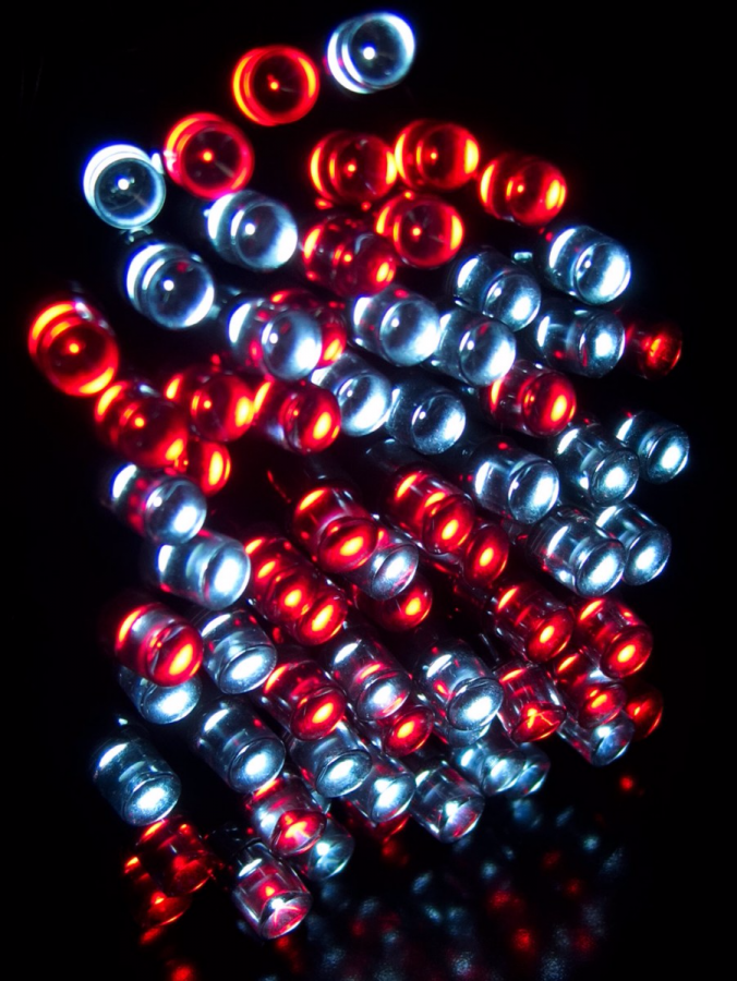 500 Red & Cool White LED String Light - 25m