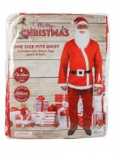 Budget 5 Piece Adult Santa Suit Costume - One Size Fits Most