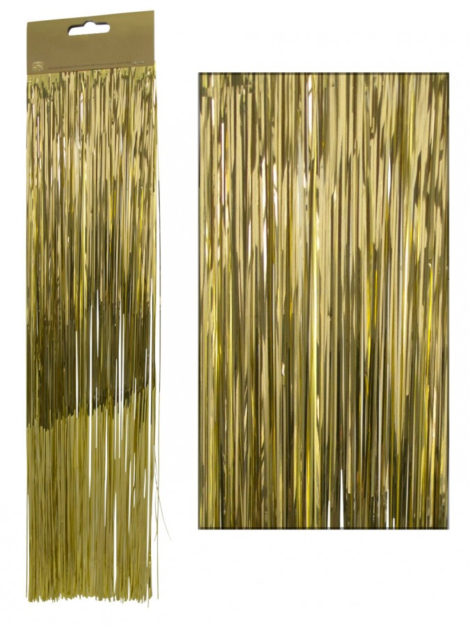 Gold Lametta Tinsel Icicles - 300 strands