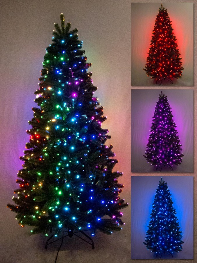 Multi Colour u0026 Function Dancing Light Fibre Optic Tree - 1.3m