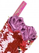 Mini Mermaid Tail Christmas Stockings With Pink Sequins - 3 x 20cm