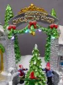 Illuminated & Animated Santa's Workshop At Cedar Valley Scene - 19cm